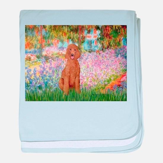 Garden/Std Poodle (apricot) baby blanket