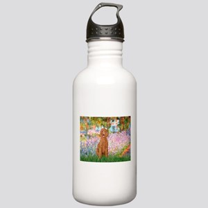 Garden/Std Poodle (apricot) Stainless Water Bottle