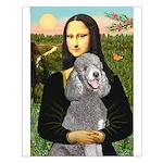 Mona Lia/Std Poodle (silver) Small Poster