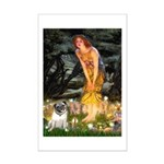 Fairies & Pug Mini Poster Print