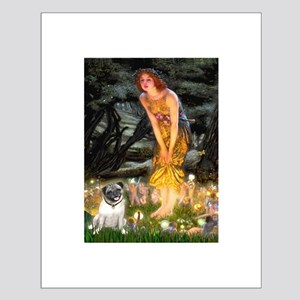 Fairies & Pug Small Poster