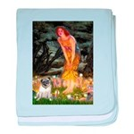 Fairies & Pug baby blanket