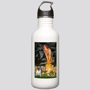 Fairies & Pug Stainless Water Bottle 1.0L