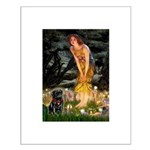 Fairies & Black Pug Small Poster