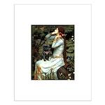 Ophelia (2) & Black Pug Small Poster