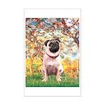 Spring / Pug Mini Poster Print