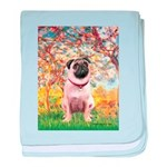 Spring / Pug baby blanket
