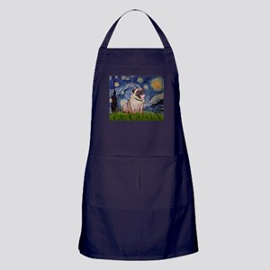 Starry Night and Pug Apron (dark)