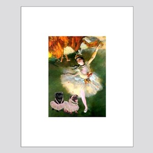 Dancer / 2 Pugs Small Poster