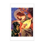 Mandolin Angel/Rottweiler Mini Poster Print