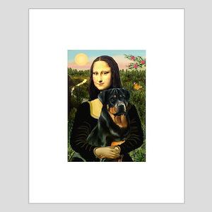 Mona Lisa/Rottweiler Small Poster
