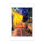 Cafe & Rottweiler Mini Poster Print
