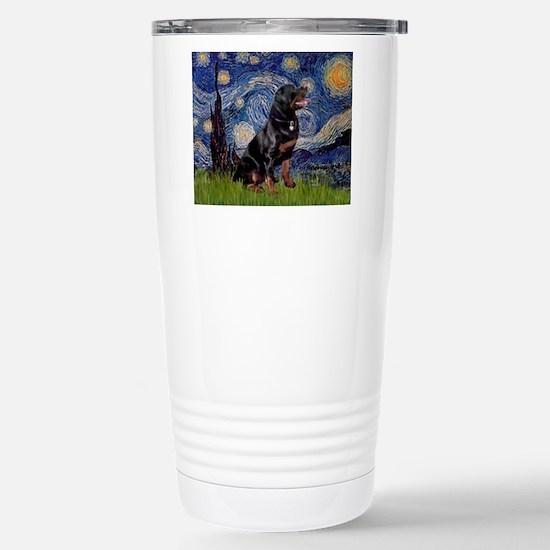 Starry/Rottweiler (#6) Stainless Steel Travel Mug