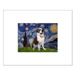 Starry / Saint Bernard Small Poster