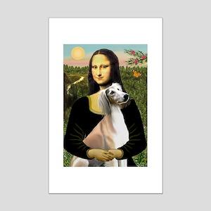 Mona Lisa (new) & Saluki Mini Poster Print