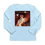 Angel / Min Schnauzer Long Sleeve Infant T-Shirt