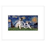 Starry Night / Min Schnauzer Small Poster