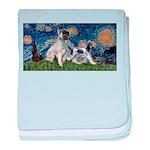 Starry Night / Min Schnauzer baby blanket
