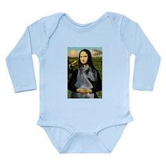 Mona & her PS Giant Schnauzer Long Sleeve Infant B