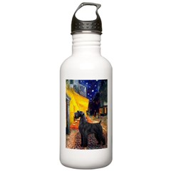 Cafe & Giant Schnauzer Water Bottle