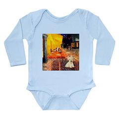 Cafe / Scottie (w) Long Sleeve Infant Bodysuit