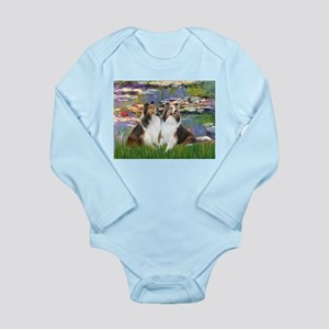 Lilies #2 / Two Shelties Long Sleeve Infant Bodysu