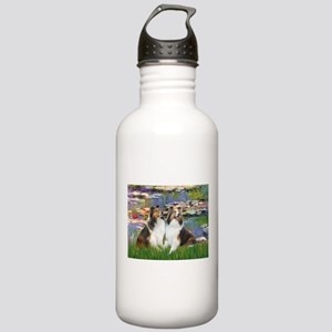 Lilies #2 / Two Shelties Stainless Water Bottle 1.