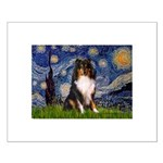 Starry Night / Sheltie (t) Small Poster