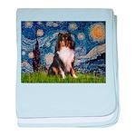Starry Night / Sheltie (t) baby blanket