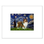 Starry / Sheltie (s&w) Small Poster