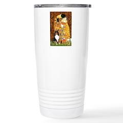 Kiss/Tri Color Sheltie Stainless Steel Travel Mug
