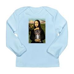 Mona / Shih Tzu(br&w) Long Sleeve Infant T-Shirt