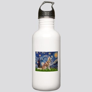 Starry Night & Red Hssky Stainless Water Bottle 1.