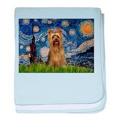 Starry Night / Silky T baby blanket