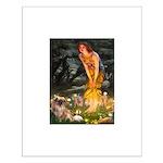 Fairies / Tibetan Spaniel Small Poster