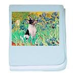 Irises / Toy Fox T baby blanket