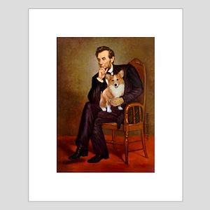 Lincoln's Corgi Small Poster