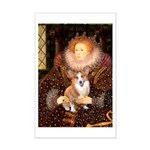 The Queen's Corgi Mini Poster Print