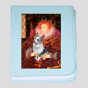 The Queen's Corgi (Bl.M) baby blanket