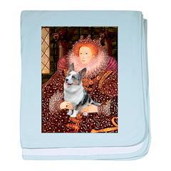 The Queen's Corgi (Bl.M) baby blanket