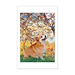 Spring / Corgi Mini Poster Print