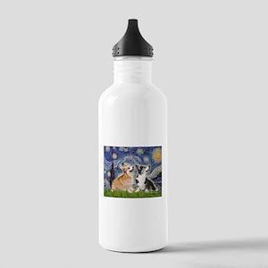 Starry Night / Corgi pair Stainless Water Bottle 1
