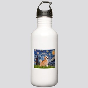 Starry Night Corgi Stainless Water Bottle 1.0L