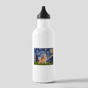 Starry Night Corgi Stainless Water Bottle 1.0L