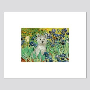 Irises / Westie Small Poster