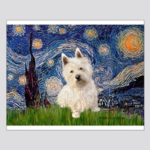 Starry Night/Westie Small Poster