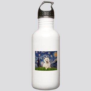 Starry Night/Westie Stainless Water Bottle 1.0L