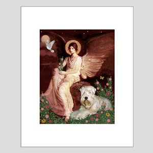 Seated Angel & Wheaten Small Poster