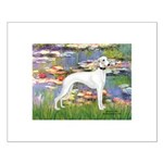 Lilies & Whippet Small Poster