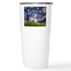 Starry Night Whippet Stainless Steel Travel Mug